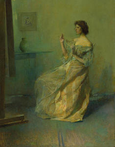 Thomas Wilmer Dewing - ザー ネックレス
