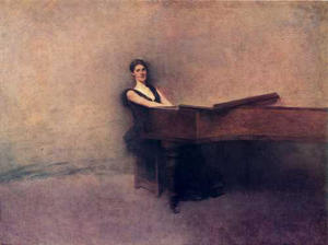 Thomas Wilmer Dewing - ザー ピアノ