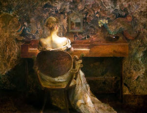 Thomas Wilmer Dewing - スピネット