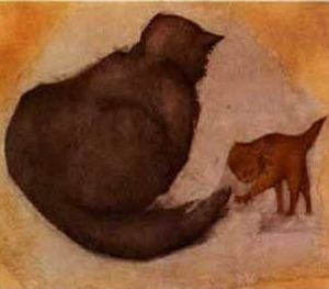 Edward Coley Burne-Jones - 猫と子猫