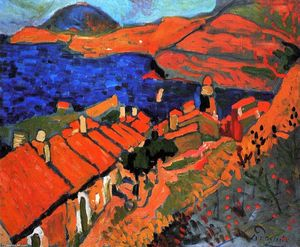 André Derain - コリウール、村と海