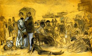 William James Glackens - コニーアイランド