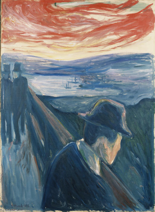 絶望, 1892 バイ Edvard Munch (1863-1944, Sweden)