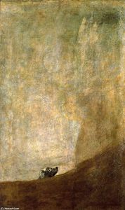 順序 手作りの絵画 : 犬, 1820 バイ Francisco De Goya (1746-1828, Spain) | WahooArt.com