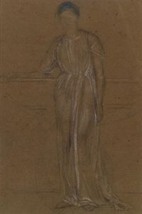 James Abbott Mcneill Whistler - ドレープ図、立ち
