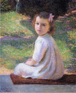 Lilla Cabot Perry - の女の子 a ピンク 弓