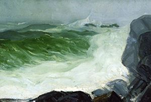 George Wesley Bellows - ザー グレー 海