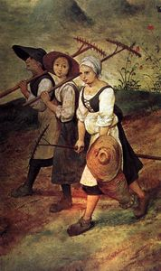 Pieter Bruegel The Elder - 干し草作り(詳細)