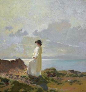William Newenham Montague Orpen - 崖では、ダブリン湾、朝
