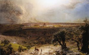 Frederic Edwin Church - Jerusalem から マウント of オリーブ