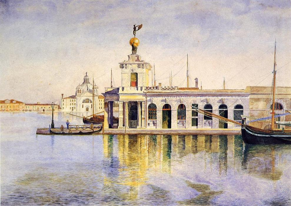 Ladogana、ヴェネツィア, 水彩画 バイ Henry Roderick Newman (1833-1918, United States)