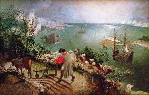 Pieter Bruegel The Elder - 風景 の `fall` の icarus