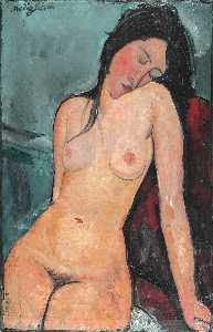 Amedeo Modigliani - 女性 裸体