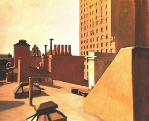 Edward Hopper - 都市 屋根