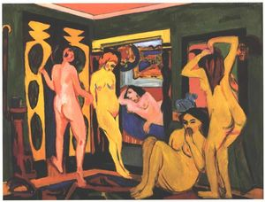 Ernst Ludwig Kirchner - 水浴び 女性たち には お部屋