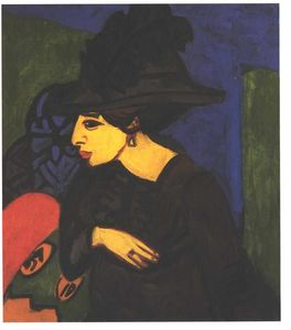 Ernst Ludwig Kirchner - ビッグフェザーハットとドードー