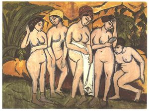 Ernst Ludwig Kirchner - 湖で5人の入浴女性