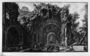 Giovanni Battista Piranesi - の表示 お寺 の Camene