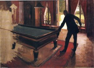Gustave Caillebotte - ビリヤード