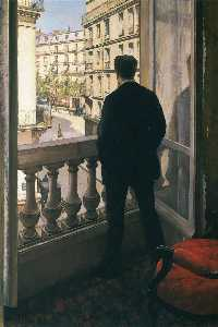 Gustave Caillebotte - 男 で ウインドウ