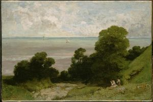 Gustave Courbet - セーヌ川のEmbouchment