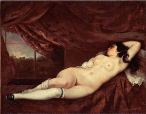 Gustave Courbet - 睡眠 裸体 女性