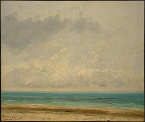 Gustave Courbet - 穏やかな海