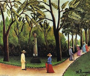 Henri Julien Félix Rousseau (Le Douanier) - リュクサンブール公園にあるショパンの記念碑