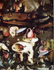Hieronymus Bosch - 庭 of Earthly 楽しみ ( 細部 )