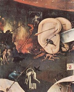 Hieronymus Bosch - 庭 of Earthly 楽しみ ( 細部 ) ( 10 )