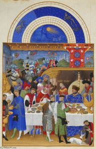 Limbourg Brothers - 1月:宴会シーン