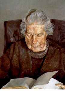 Lucian Freud - ザー `painter-s` 母 読書