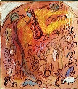 Marc Chagall - 'Study へ ''Striking Rock'''