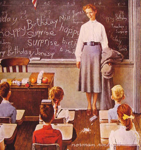 Norman Rockwell - 先生の誕生日