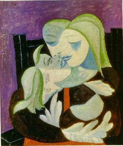 Pablo Picasso - 母 と 子供 ( Marie-Therese そして、マヤ )