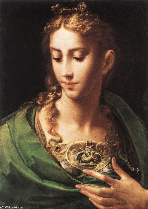 キャンバスに油彩 バイ parmigianino (1503-1540