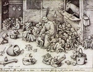 Pieter Bruegel The Elder - ザー 尻 に ザー 学校