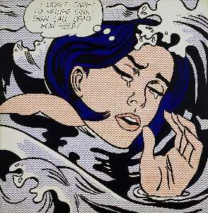 Roy Lichtenstein - 溺れる少女