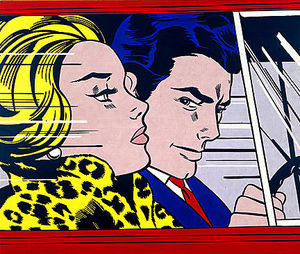 Roy Lichtenstein - 車の中で