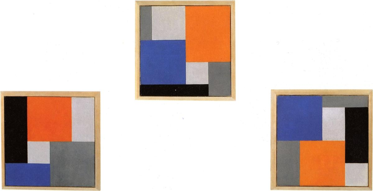 三つの部分で組成XVIII, 1920 バイ Theo Van Doesburg (1883-1931, Netherlands)