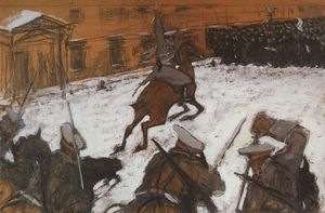 Valentin Alexandrovich Serov - 兵士 , oldiers , 英雄たち あらゆる One