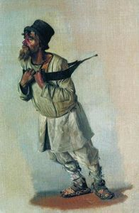 Vasily Vasilevich Vereshchagin - ストラップに手を保持Burlak