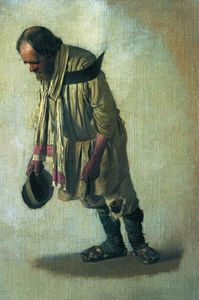 Vasily Vasilevich Vereshchagin - Burlak の キャップ 彼のインチ 手