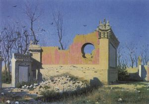 Vasily Vasilevich Vereshchagin - 廃墟 of a 劇場 chuguchakで