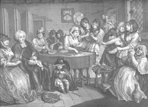 William Hogarth - A Harlot's Progress , plate 6