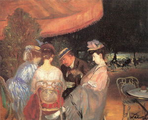 William James Glackens - カフェ·デ·ラ·ペ