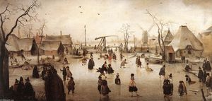 Hendrick Avercamp - 氷 シーン