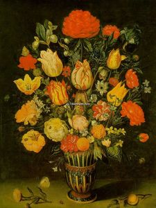 Ambrosius Bosschaert The Elder - 静物画 の フラワーズ