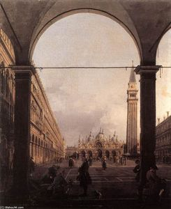 Giovanni Antonio Canal (Canaletto) - Piazza San Marco : 探している 東 から North-West コーナー