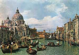 Giovanni Antonio Canal (Canaletto) - ザー グランド 運河 そして の教会 ザー 敬礼
